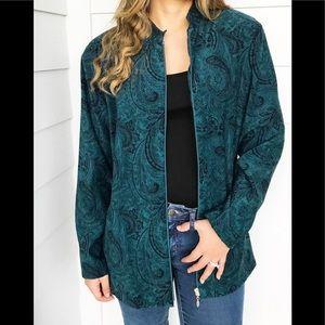 Patchington zipper jacket green . M
